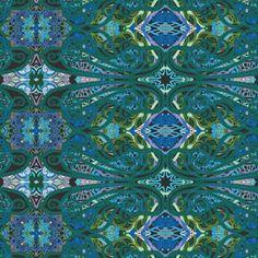 K327 Paisley Turquoise