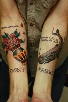 Hitchhikers' Guide to the Galaxy tattoo