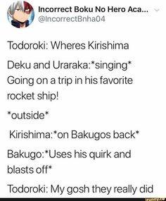 Boku No Hero Academia Funny, My Hero Academia Episodes, My Hero Academia Memes, Hero Academia Characters, My Hero Academia Manga, Stupid Funny Memes, Haha Funny, Funny Texts, Bakugou And Uraraka