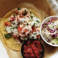 Quicks Hole - Woods Hole, MA. Lobster Tacos.