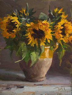 Sunflowers A Daily painting by Julian Merrow-Smith