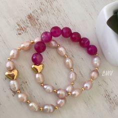 Pulseras de perlas by Luz Marina Valero #joyeria #joyas