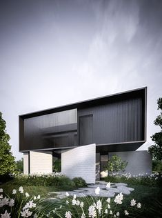 minimalism and architecture Library Architecture, Facade Architecture, Residential Architecture, Minimalist Architecture, Contemporary Architecture, Contemporary Design, Coupes Architecture, Brighton Houses, Facade House