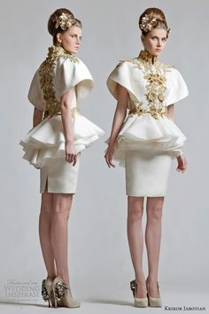 Krikor Jabotian Wedding Dresses — Chapter One Collection - Braut Style Haute Couture, Couture Mode, Couture Fashion, Dresses 2013, Short Dresses, Formal Dresses, Wedding Dress 2013, Wedding Dresses, Bridal Gowns