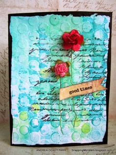Tutorials: Using Watercolors with Embossing Folders by Andrea Ockey Parr