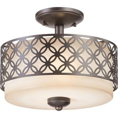 Nuvo Margaux 2-light Patina Bronze Semi Flush Fixture | Overstock.com Shopping - The Best Deals on Flush Mounts
