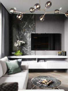 Inspirational best living room tv wall designs and ideas 8 - Small Living Rooms, Home Living Room, Living Room Decor, Modern Tv Room, Modern Living, Living Room Tv Unit Designs, Tv Wall Design, Home Room Design, Textured Walls