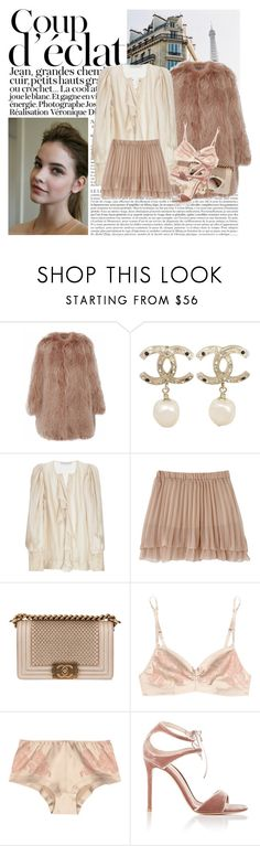 """""""Untitled #1749"""" by hellohanna ❤ liked on Polyvore featuring Bela, Marc Jacobs, Chanel, STELLA McCARTNEY, Carine Gilson and Gianvito Rossi"""