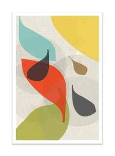 FLOW no.28 Giclee Print Mid Century Modern Danish by Thedor - art wall