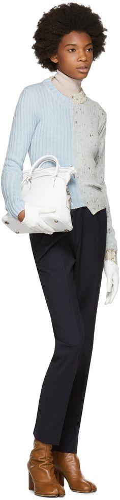 Maison Margiela - Blue Glitch Crewneck Sweater