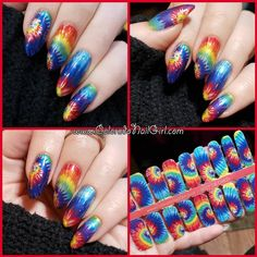Tie Dyed - A custom design with a tie dye design Tie Dye Designs, Nail Art Designs, Tie Dye Nails, Nail Polish Strips, Tie Dyed, Custom Design, Colorado, Beauty, Makeup