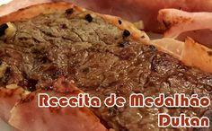 Medalhão de carne com bacon falso - Dieta Dukan #receitasdukan #dietadukan #carnes
