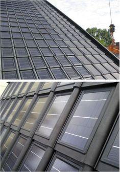 zonnepanelen dakpan Contemporary Barn, Contemporary Architecture, Alternative Energie, Cement House, Solar Shingles, Pv Panels, Solar Solutions, Solar Roof Tiles, Best Solar Panels