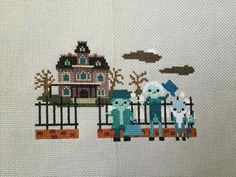 Haunted Mansion Cross Stitch- Disney Ride Inspired Parody PDF/Instant Download by petalpusher on Etsy