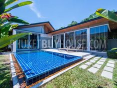 Tropical modern villa with 4 bedrooms in Layan Pool House Plans, Home Technology, Italian Furniture, Tropical Houses, Private Pool, Modern Design, This Is Us, Mansions, House Styles