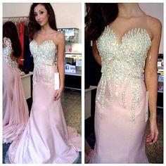 Charming Prom Dress,Long Prom Dress,Formal Evening Dress,Mermaid Prom
