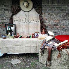 Alexis charro birthday party 3rd Birthday Party For Boy, Cowboy Birthday Party, Mexican Birthday, Baptism Party Decorations, Mexican Party Decorations, Cowboy Theme Party, Cowboy Baby Shower, Baby Boy Baptism, Boy Baby Shower Themes