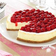This Creamy Baked Cheesecake recipe from Eagle Brand® Eagle Brand® Sweetened Condensed Milk is sure to sweeten up your Easter!