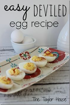 These  Easy Deviled Eggs are a simple recipe that are sure to be a hit at your next party.  I have a secret ingredient I use in mine!