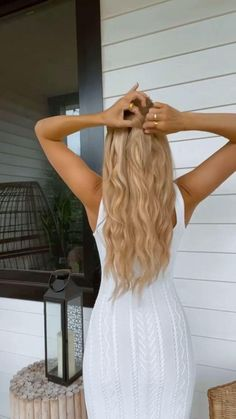 Easy Hairstyles For Thick Hair, Hairdo For Long Hair, Casual Hairstyles, Hair Ponytail Styles, Hair Up Styles, Hair Tips Video, Hair Highlights, Hair Looks, Makeup