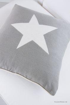 Pillow Big Star 50x50 cm gray