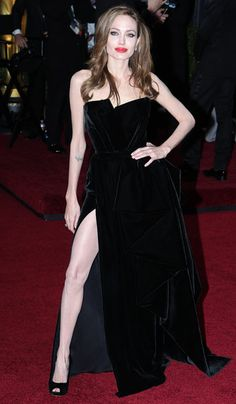 Angelina Jolie in Atelier Versace - 2012, oscars, The Best Oscar Dresses Ever, red carpet