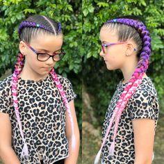 "𝔅𝔯𝔞𝔦𝔡𝔢𝔡 𝔅𝔞𝔟𝔢𝔰 on Instagram: ""Gorgeous colours in these extension braids 💜💕 . . . . .  #braidedbabes #sydneybraids #boxbraids #princesshair #hairbraiding #topbraids…"" Cute Hairstyles For Medium Hair, Kids Braided Hairstyles, Princess Hairstyles, Box Braids Hairstyles, Little Girl Hairstyles, Medium Hair Styles, Cool Hairstyles, Long Hair Styles, White Girl Braids"