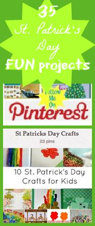 35 St. Patrick's Day Fun Projects and Pinterest Party!