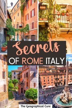 Want to get off the beaten path in Rome and avoid the ever-present crowds? This Rome travel takes you to 30 secret spots and hidden gems in Rome Italy that are less touristy. Some of these lesser known Roman wonders are overlooked landmarks, underrated museums, off center palazzos, or recently unveiled attractions that are still under the radar. What To Do In Rome | Unusual Things To Do and See in Rome | Rome Itineraries | Rome Destinations | Rome Travel | Secret Rome | #rome #italy Places In Europe, Places To Visit, Rome Itinerary, Day Trips From Rome, Rome Travel, Unusual Things, Archaeological Site, Travel Aesthetic, Rome Italy