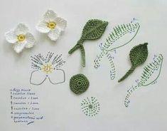 Watch The Video Splendid Crochet a Puff Flower Ideas. Wonderful Crochet a Puff Flower Ideas. Crochet Diy, Art Au Crochet, Crochet Puff Flower, Mode Crochet, Crochet Gratis, Crochet Leaves, Crochet Motifs, Knitted Flowers, Crochet Flower Patterns