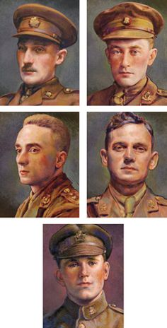 Clockwise from top left: Victoria Cross recipients Harcus Strachan, Edmund De Wind, George McKean, Joseph Kaeble and Gordon Flowerdew. November 1917 saw the beginning of the turning point in the fortunes of World War I. The Russian Revolution earned Germany peace with the Bolsheviks, which freed up enough troops from the east...
