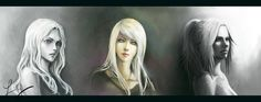 Claymore Portraits; Teresa of the Faint Smile, God Eye Galatea, Phantom Miria.