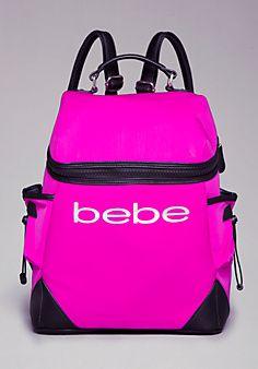 Lana Logo Backpack.I want this bebe backpack.