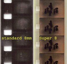 Standard (left) and Super 8 film Super 8 Film, Film Movie, Movies, Film Reels, Movie Camera, Photo Storage, Cameras For Sale, Diy Photo, Being Used