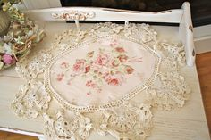 How To Alter A Vintage Doily - great site with lots of ideas, and not afraid to share - thank you
