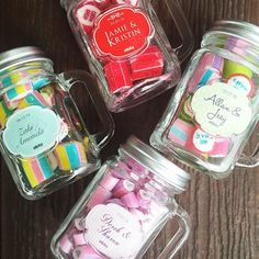 Not sure what to give your guests for your wedding? Check out these mini Mason jars we have just brought in! Arent they just the cutest!
