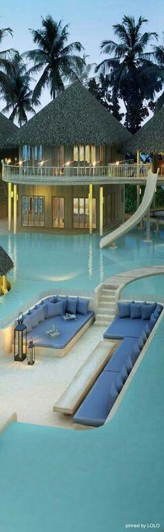 hotel aux Maldives