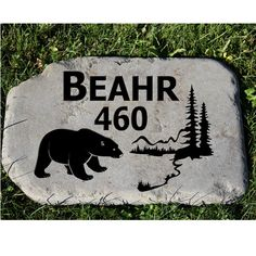 Welcome Address Stone by NewCastleSign on Etsy, $90.00
