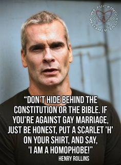 Henry Rollings saying it as it is.