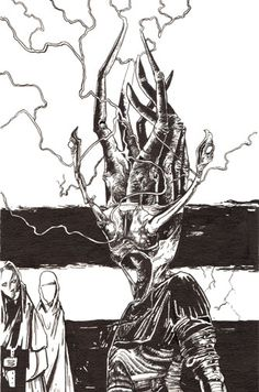 """To keep with the Imajica theme, this is an illustration by Richard Kirk depicting a """"Nullianac"""" from the novel. He has done many works of art for the 2002 publication of Imajica's appendix and all of them are pleasantly disturbing in some shape, form, or fashion; I absolutely love them."""