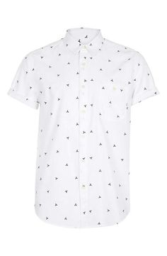 Cute! Geometric Pattern Short Sleeve Shirt | Topman