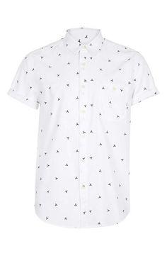 Cute! Geometric Pattern Short Sleeve Shirt | Topman