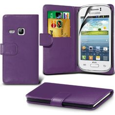 Fone-case ( Purple ) Samsung Galaxy Young S6310 Faux Stylish Pu Leather Wallet Credit / Debit Card Flip Case Skin http://www.smartphonebug.com/accessories/19-great-samsung-galaxy-young-s6310-cases-and-covers/