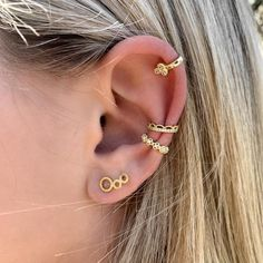 Messing, Gemstone Jewelry, Piercing, Crown, Gemstones, Spring, Earrings, Collection, Ear Jewelry
