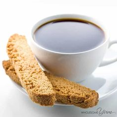 This paleo, low carb biscotti recipe is prepared with almond flour. Now sugar-free, gluten-free biscotti can be made easy with only 6 ingredients!