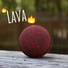 Lava Bath Bomb by MeltAwayBathBombs on Etsy