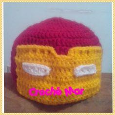 Gorro de Iron Man por Croche Mar