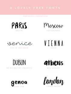 Fonts inspiration - download free   Photoshop templates for photographers by Birdesign