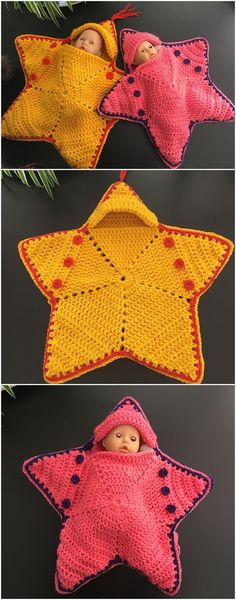 Crochet Baby Star BuntingThis twinkle twinkle star bunting is so lovely. It's going to make sure to convey a smile in your face. It not solely works for a doll child, but in addition for an actual child. Crochet Afghans, Crochet Pillow Patterns Free, Kids Knitting Patterns, Baby Patterns, Baby Knitting, Crochet Ideas, Kids Crochet, Crochet Animals, Crochet Projects