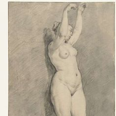 Staand vrouwelijk naakt, anonymous, 1600 - 1699 - Rijksmuseum